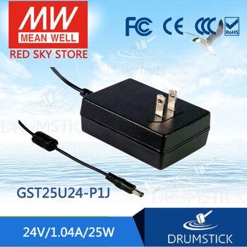 (Only 11.11)MEAN WELL GST25U24-P1J (6Pcs) 24V 1.04A meanwell GST25U 24V 25W AC-DC High Reliability Industrial Adaptor