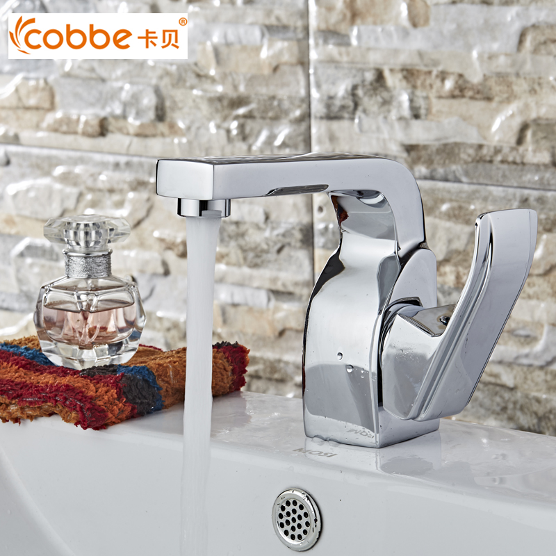 Contemporary Zinc Alloy Handle Basin Faucets Chrome Waterfall Faucet For The Bathroom Brass Body Basin Mixer Cobbe SW-7769