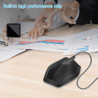 USB Table Top Conference Microphone Meeting Mute Stereo Omnidirectional Mic EM88