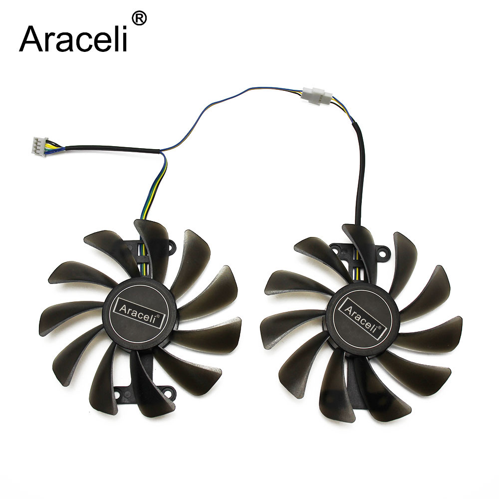 2pcs/set 95MM <font><b>GTX</b></font> <font><b>1070</b></font>/1070Ti GPU VGA Cooler Fan For KFA2 GALAX <font><b>GeForce</b></font> GTX1070 <font><b>GTX</b></font> <font><b>1070</b></font> <font><b>Ti</b></font> AMP Core Video Cards Cooling image