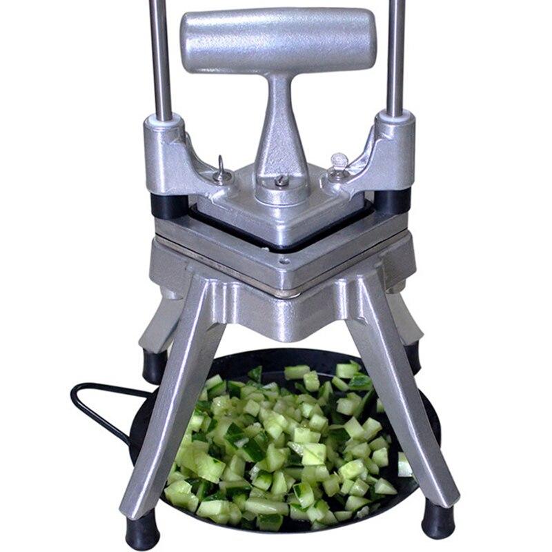 Ручной Резак для овощей, машина для резки картофеля, прибор для нарезки кубиками из нержавеющей стали - 4