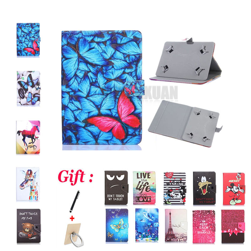 (No <font><b>camera</b></font> hole) Universal Cover for Prestigio MultiPad <font><b>Wize</b></font> 3108 3G PMT3108 8 inch Tablet PU Leather Stand Case + 2 Gifts image