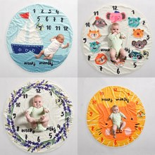 4 Style Cute Multi-functional Baby Birth Commemorat Photo Props Round Blankets Play Mats Nordic Style Kids Bed Room Decor(China)