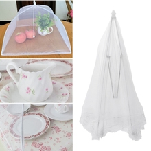 Large Mesh Food Cover Dish Umbrella Collapsible Protector Te