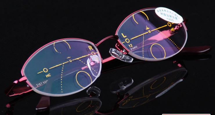 VIDA CLARA Inteligência Multifocal Progressiva Bifocal Óculos de Leitura  Comercial das mulheres Vermelhas Ultra cca7c205ee