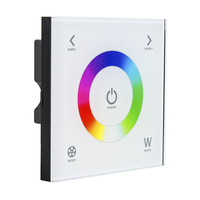 Wall Mount DC12 24V Touch Panel Full Color Dimmer Controller For RGBW LED Strip Lighting 16A