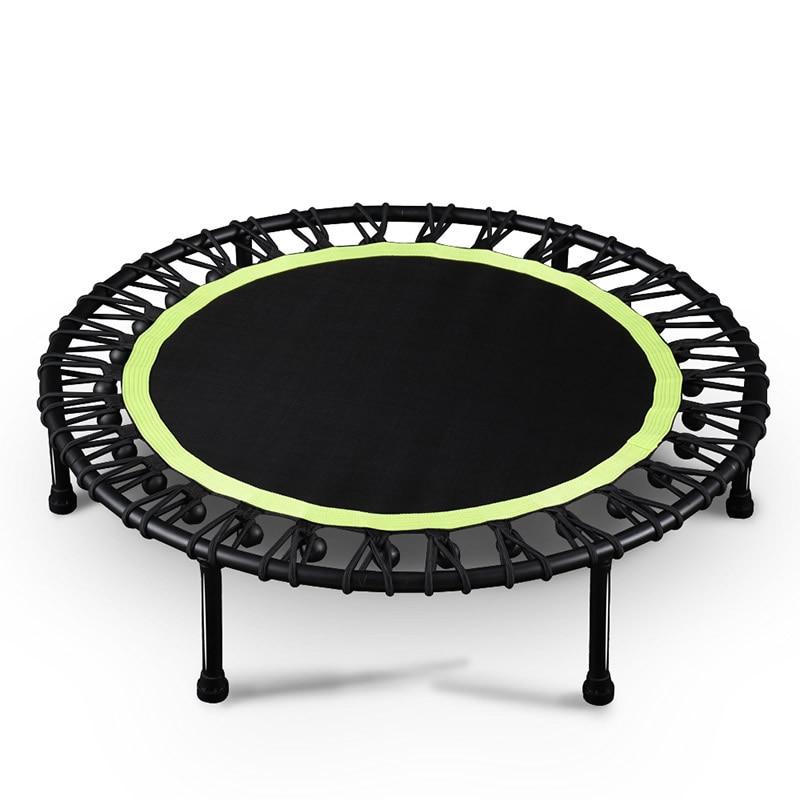 Trampoline rond en sourdine de 40 pouces pour enfants, outil de divertissement intérieur, entraînement de Fitness pour adultes, stabilité, entraînement, 150 kg