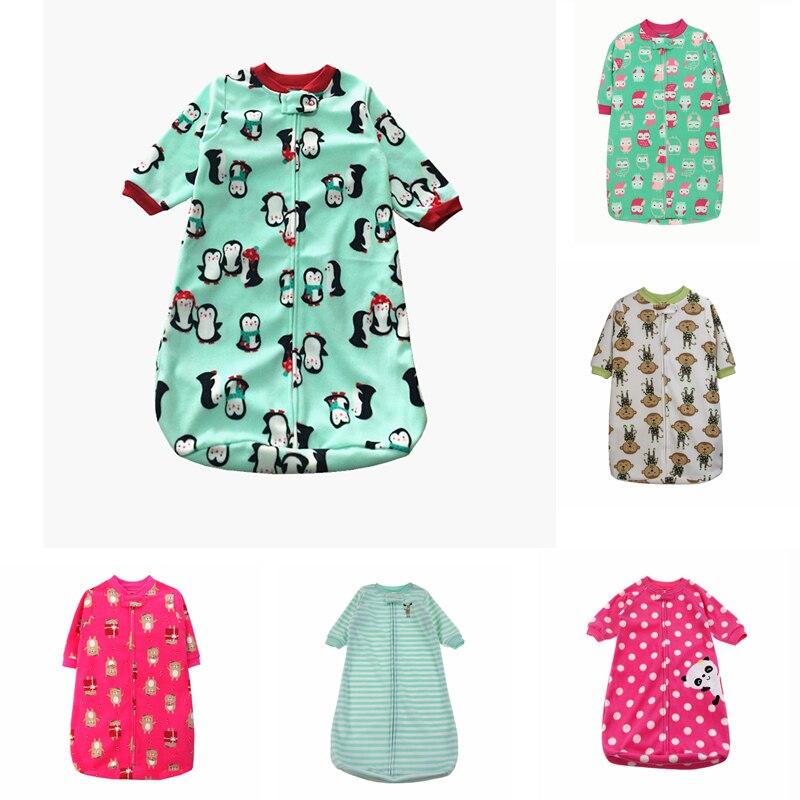 Baby Sleeping Bag Cute Sleep Sack For Newborn Polar Fleece Infant Clothes Style Bags Sleeve