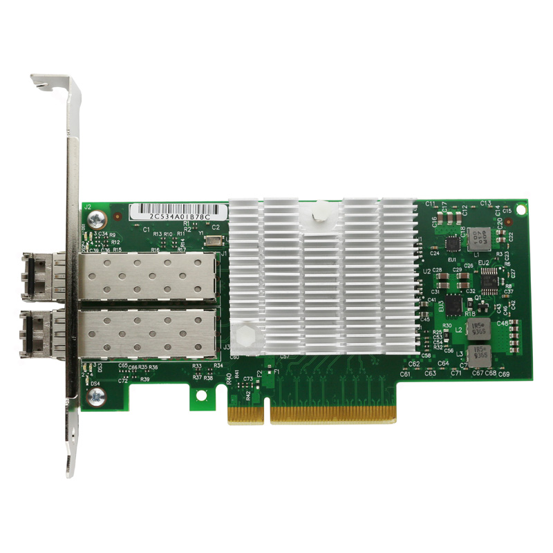 PCI-E X8 10-Gigabit Fiber Server Card w/ 2pcs Multi Mode 850nm LC Optical Module цена 2017
