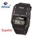 Simple de Edad Hombres y Mujeres Reloj Hablar Hablar Español Electrónico Digital Relojes Deportivos Para Las Personas Ciegas de Anciano