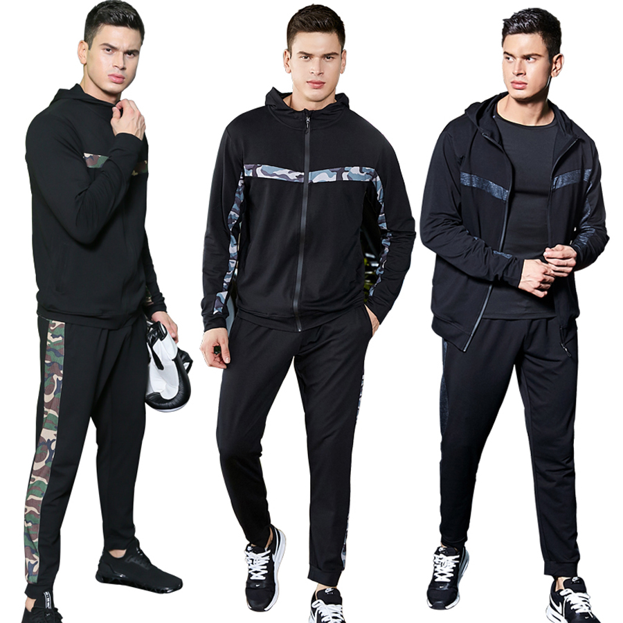 Fitness Sports Sets Men Workout Sportswear Spring Sports Track Suit Running Suits