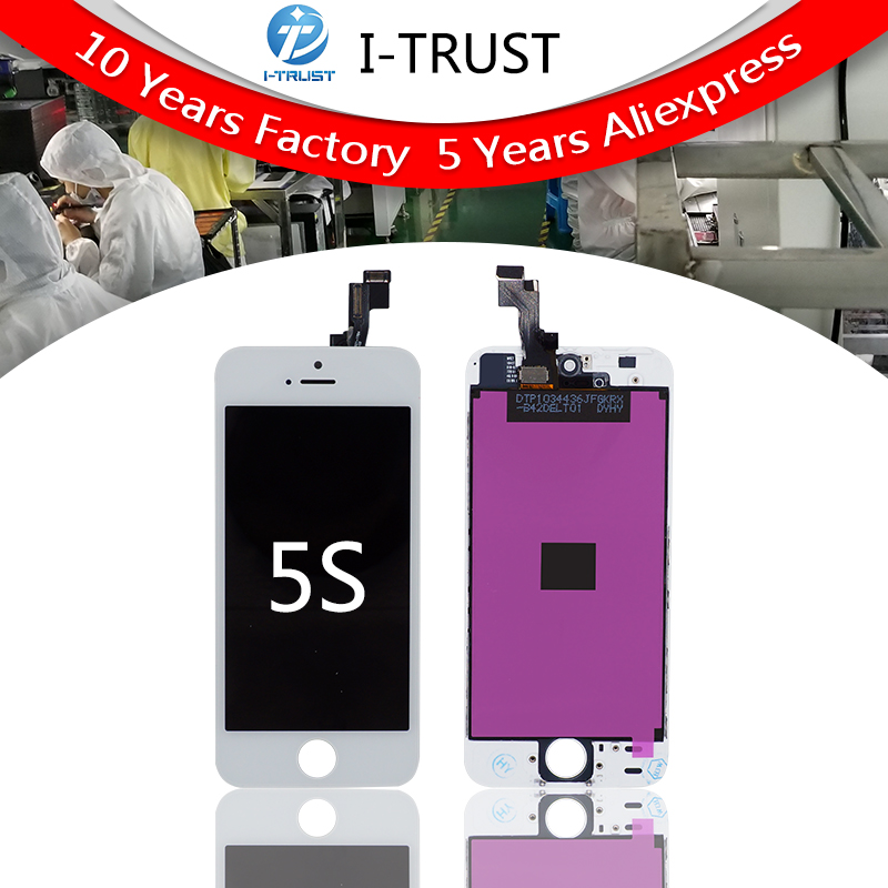 Grade A quality Mobile Phone LCD Display For iphone 5S lcd Touch Screen Digitizer Assembly color