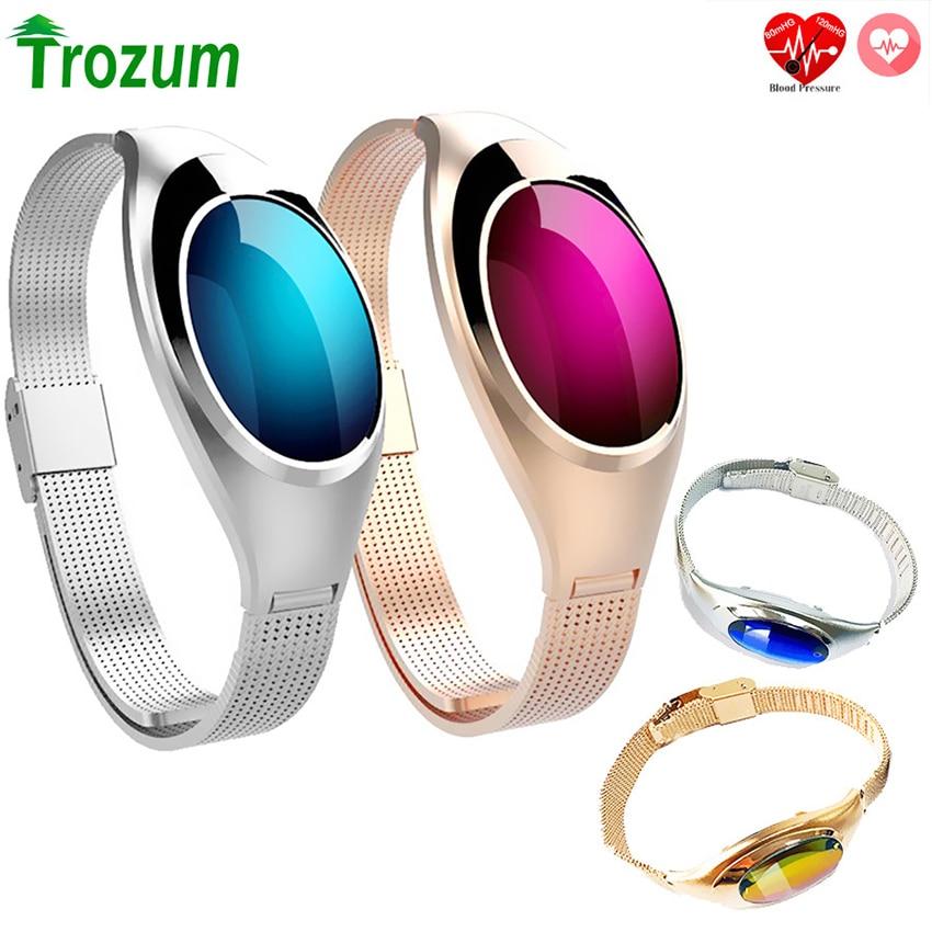 Z18 Smart Bracelet Band Blood Oxygen Heart Rate Call reminder Luxury Fashion Smartband Wristband Wrist Watch for Woman gift