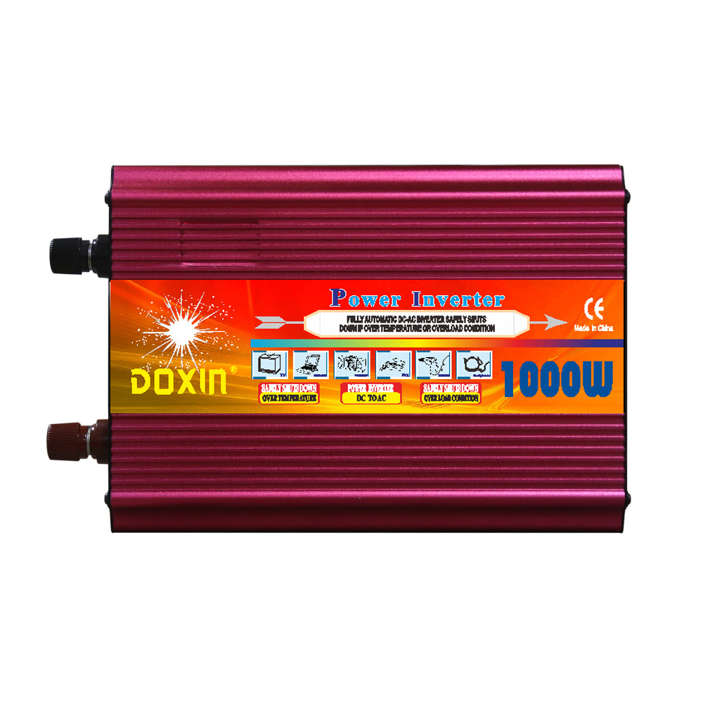 цена Voltage Converter 12V to 220V 24V to 220V 1000W Smart LCD Inverter Inverter Power Household Power Converter