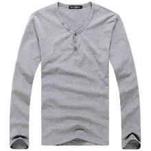 Plus size T-Shirt Men 2018 Spring Autumn New Elastic Cotton T Shirt Men's Solid Color Tshirt Button Collar Long Sleeve Top Tees