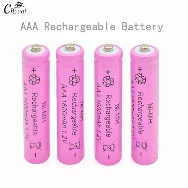 4 pcs Aaa Ni-Mh 1.2 v 7 # Có Thể Sạc Lại 1600 mah 3a Trung Tính Pin Bateria