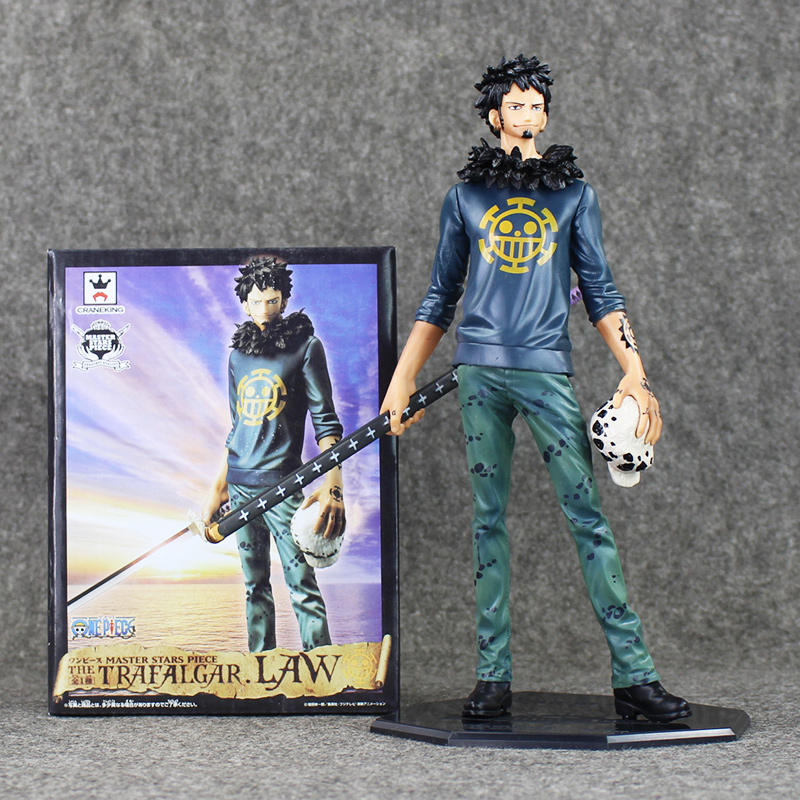 Anime Cartoon One Piece Trafalgar Law After 2 Years PVC Action Figure Collection Model Toy 28CM  OPFG339 free shipping 5 7cm japanese one piece after 2 years pvc action figure tea lunch collection model toy 9pcs per set