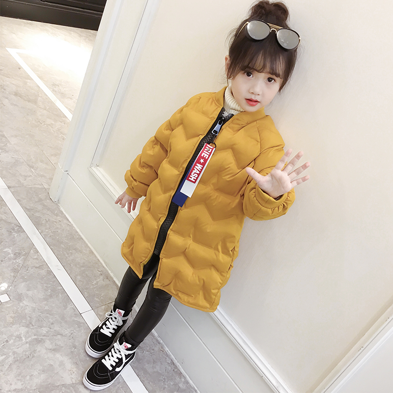 New Girls 2017 Cotton Coat Kids Winter Jackets Boys Jackets Children Parkas Toddler Thicken Warm Long Style Coat,2-6Y,#2392 women winter coat leisure big yards hooded fur collar jacket thick warm cotton parkas new style female students overcoat ok238