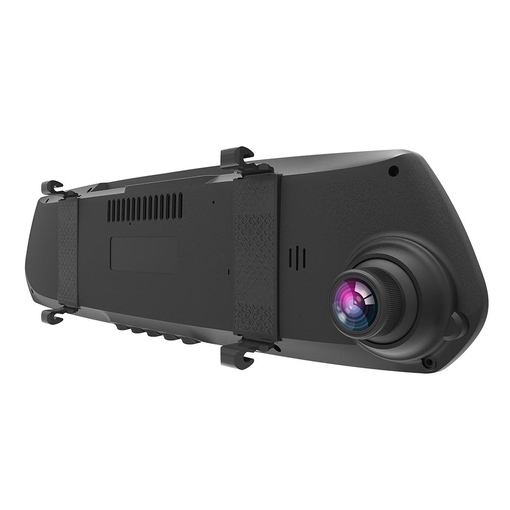 M26 Автомобильный видеорегистратор Novatek 96655 1080P 4,5 дюймов экран 135 градусов угол двойной объектив зеркало заднего вида видеорегистратор