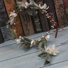 The brides handmade headgear Immersen yarn wreath plate hairband garland