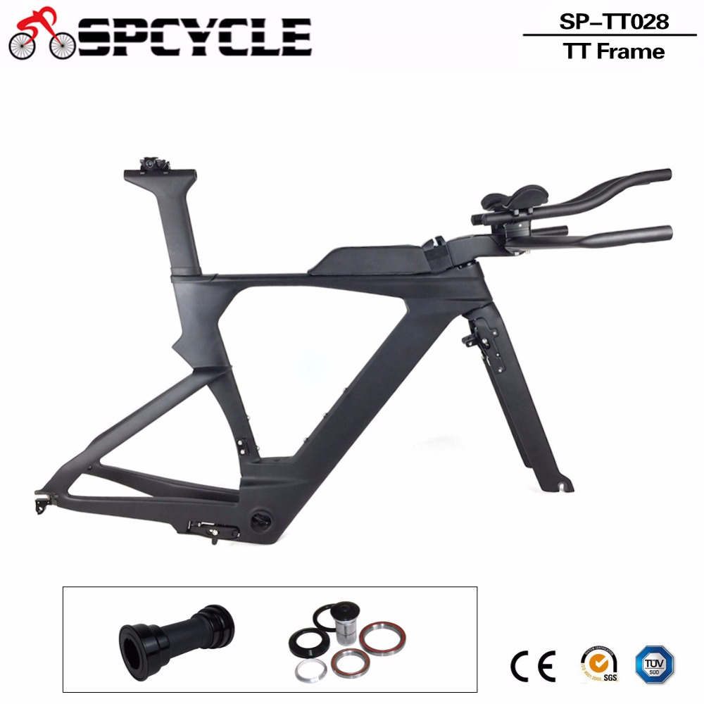 Spcycle New Carbon TimeTrial Triathlon Carbon Frames T1000 Carbon TT Track Bicycle Frames,Carbon TT Framesets With TRP Brakes