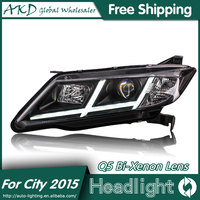 AKD Car Styling For Honda City Headlights 2014 2016 New City LED Headlight LED DRL Bi