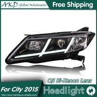 AKD Car Styling For Honda City Headlights 2014 2016 New City LED Headlight LED DRL Bi