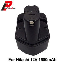Высокое качество 1.5Ah 12 В NI-CD электроинструмента Аккумулятор для hitachi: EB1212S, DB12DM2, EB1214L, DS10DVA, EB1220BL, DH15D2, EB1233X