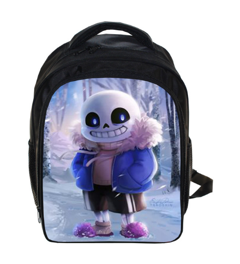 331de1b775e3 13 Inch Undertale Backpack Sans And Papyrus School Boys Girls Bag Children  School Bags Travel Daypack
