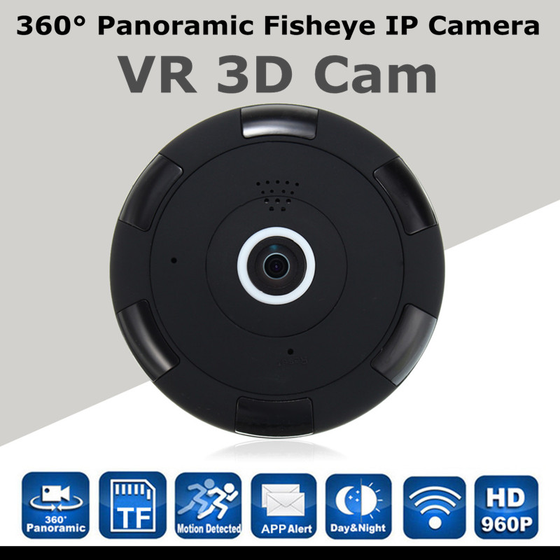 360 degree Panoramic Fisheye 960P HD IP Camera Wifi Wireless Security Surveillance Camera VR 3D Cam Home Security Baby mintors myeye 2017 new panoramic vr wifi ip camera hd 720p 960p with fisheye lens 180 360 degree security camera home safety ip camera