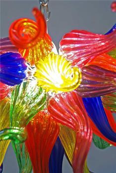 Lampadari A Buon Mercato | Multicolor 100% In Vetro Soffiato Moderna HA PORTATO A Buon Mercato Piccolo Lampadario Luce Per La Decorazione Dell'hotel