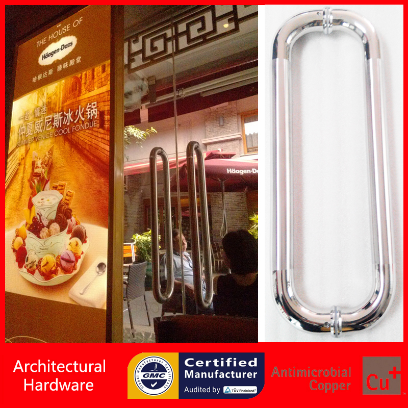 Entrance Door Pull Handle Made Of 304 Stainless Steel For Entry/Glass/Shop/Store Interior/Exterior Barn&Gates PA-127-25*300mm modern entrance door handle 304 stainless steel pull handles pa 104 32 1000mm 1200mm for entry glass shop store big doors