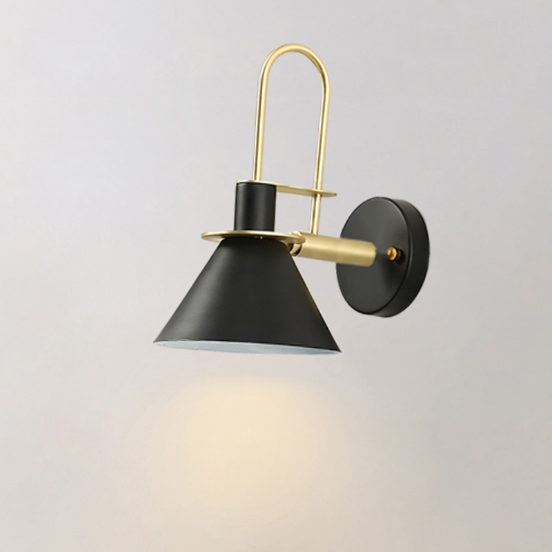 Post Modern Wall Lights Sconce Creative Iron Horn LED Nordic Simple Modern Wall Light For Bedside Wall Lamp Home Indoor Lighting Fixture E27 E26 (13)