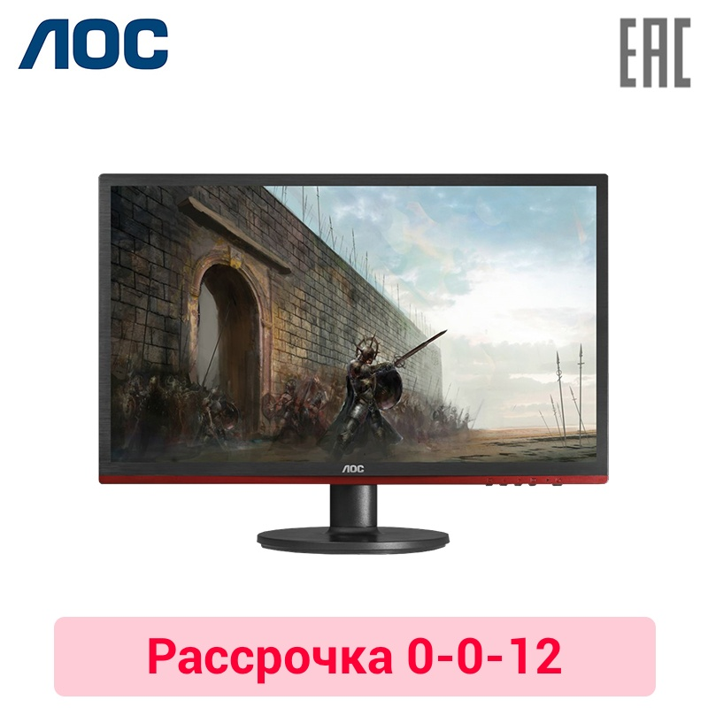 Monitor 21.5 AOC G2260VWQ6 Black-Red (LED, 1920x1080, 1 ms, 170/160, 250 cd/m, 20M:1, +HDMI, +DisplayPort) 0-0-12 cd led zeppelin ii deluxe edition