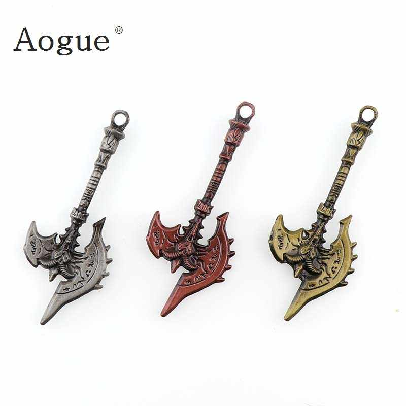 Antique Metal Arrow Saber Axe Dagger Charms Diy Jewelry Handmade Weapon Pendant Charm For Car Key Chain