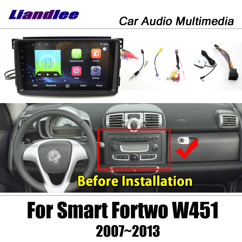 US $312 62 23% OFF|Liandlee Android For Smart Fortwo W451 2007~2013 Stereo  Radio Video Wifi Carplay Map GPS Nav Navi Navigation Multimedia No DVD-in
