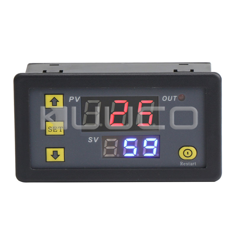 1500W  DC 5V Digital Timer Relay Switch Board with Dual Display for timing, delaying, cycle timing, intermittent timing, etc 12v timing delay relay module cycle timer digital led dual display 0 999 hours