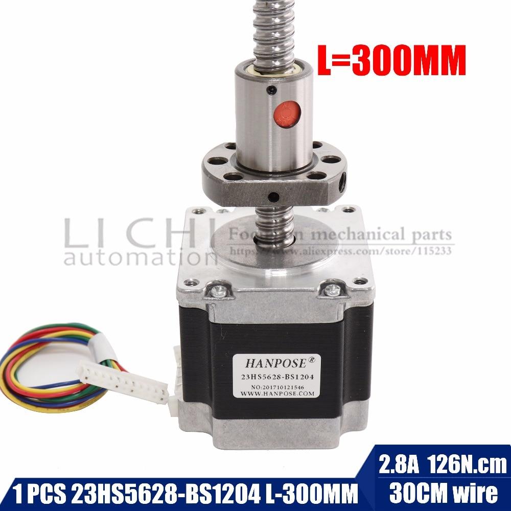Nema 23 Stepper Motor 23hs5628-bs1204 ball screw length 300MM , 2 phase, 4-Leads 56mm for CNC 3D PrinterNema 23 Stepper Motor 23hs5628-bs1204 ball screw length 300MM , 2 phase, 4-Leads 56mm for CNC 3D Printer