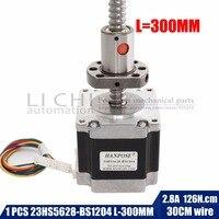 Nema 23 Stepper Motor 23hs5628 bs1204 ball screw length 300MM , 2 phase, 4 Leads 56mm for CNC 3D Printer