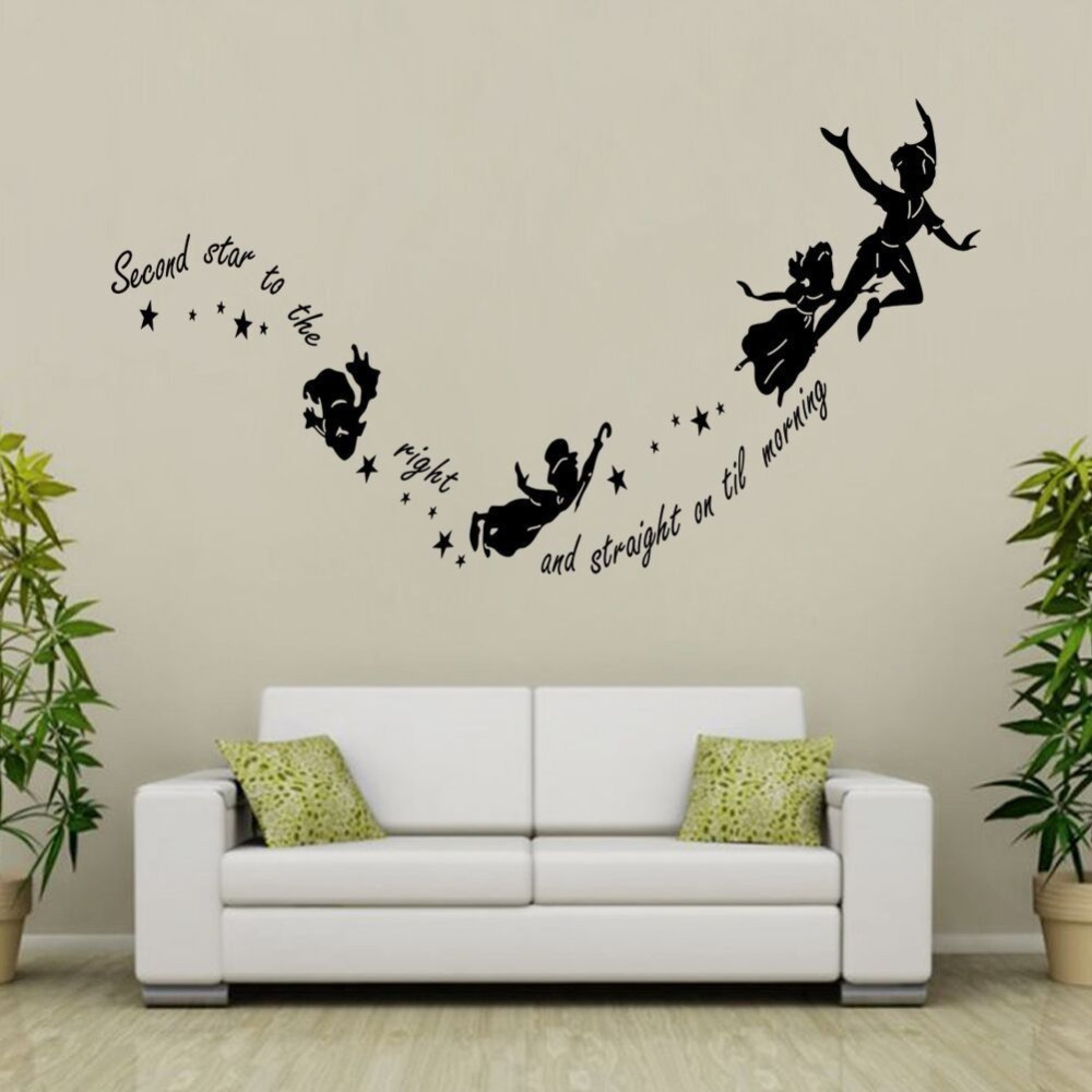 Tinkerbell Stars Wall Stickers Home Wall Decals Wall Decor Kids Room Decor Art 57x29cm China