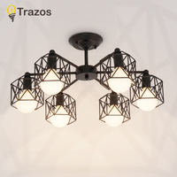 Vintage Ceiling Light Iron Multiple Rod Creative Retro Personality Luminaria Industrial Led Home Lighting Fixture Ceiling