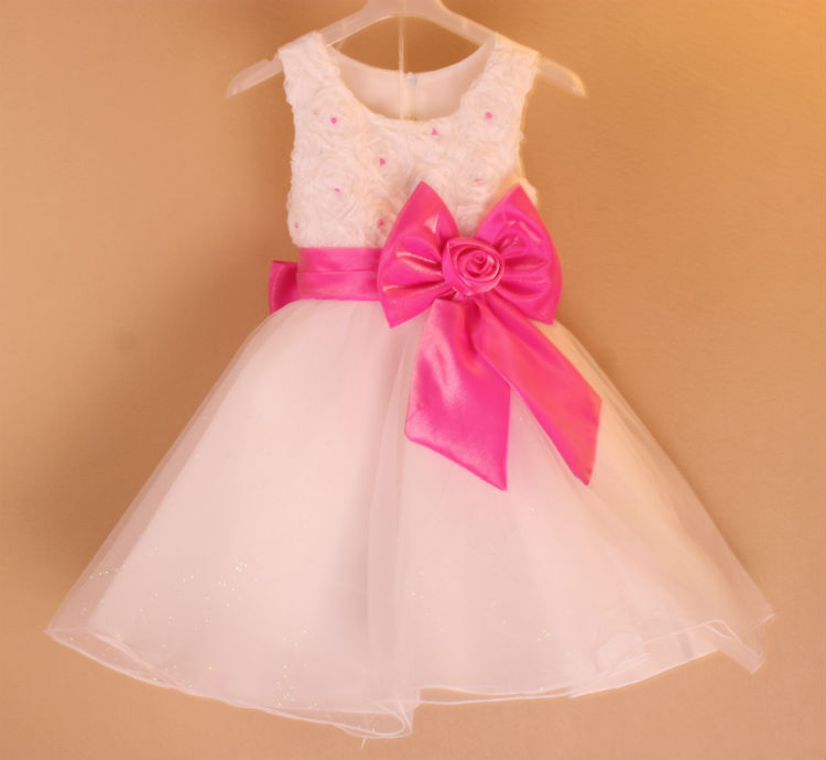 Kids Clothes Special Offer 2017 Summer Style Layered Girl Clothes Girls Princess Bow Belt Rose Pricess Dress Party Wedding Color 2 8y korea style cute bow belt sleeveless round collar assorted color performing dress layered dress girl evening dress