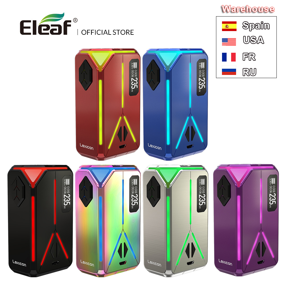 Original Eleaf lexique Mod 235W max Support ELLO Duro atomiseur 6.5ml Cigarette électronique Vape