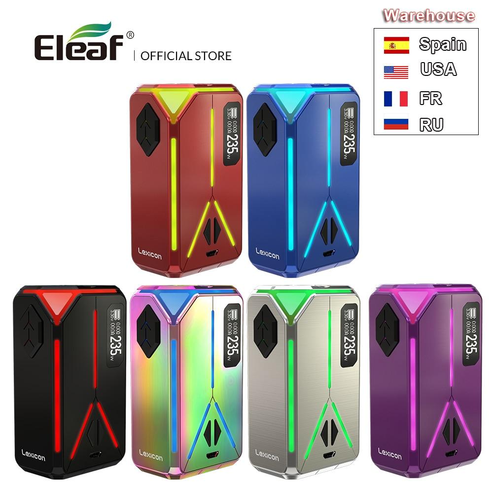 Original Eleaf lexique Mod 235W max Support ELLO Duro atomiseur 6.5ml Cigarette électronique Vape