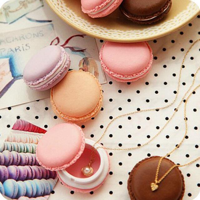 Alta calidad de color caramelo creativo comestibles cajón macarrón pastel de helado en forma de mini corto caja de almacenamiento