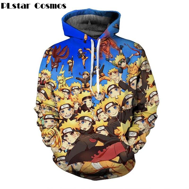 2018 hot sale Men Women Long Sleeve Outerwear Classic Anime Naruto 3D Hoodies harajuku Sportswear Hip Hop Hooded Sweatshirts