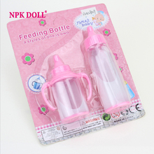 Plastic Pacifier Magic Feeding Bottle PP Soother Kids Toys for Dolls Silicone Reborn Baby Doll Accessories