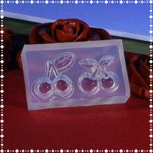 GLADZGT вишня DIY силиконовый Кристалл Капля резиновая форма прозрачный ручной работы ювелирные изделия плесень инструменты для ювелирных изделий