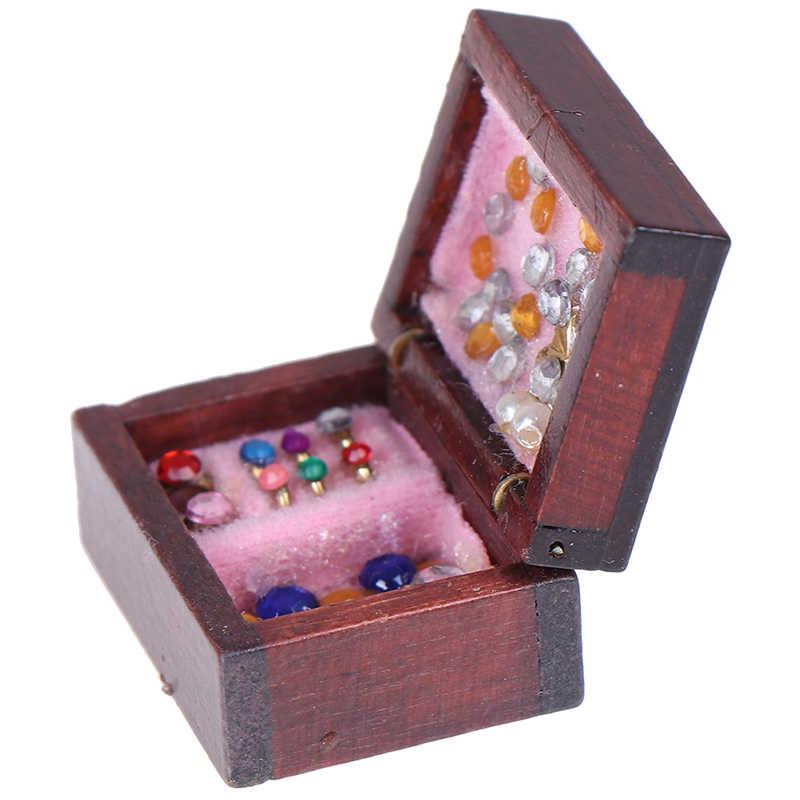 1:12 Dollhouse Accessories Mini Jewelry Box Model Dollhouse Miniatures DIY Miniatures Doll House Furniture Toy House