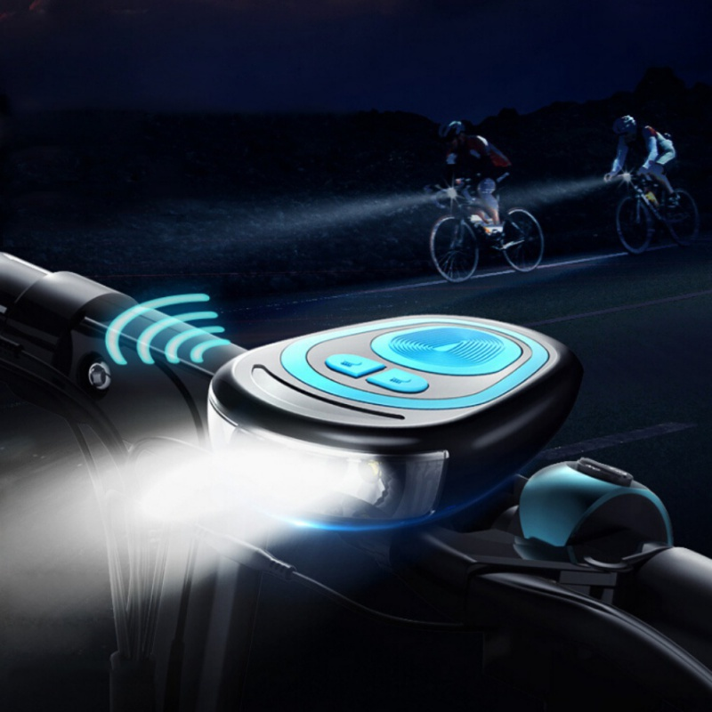 Multifunction Bicycle Bell USB Charging Bike Horn Light Headlight Cycling Ultra Bright Electric 120 db Horn Bike Bell bike remote horn bicycle light